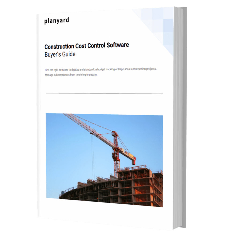 Construction Cost Control Ebook